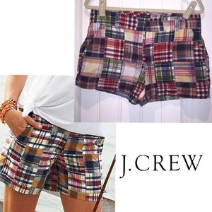 J. Crew City Fit madras plaid shorts sz 6